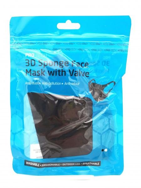 508799 FACE MASK WVALVE BLACK