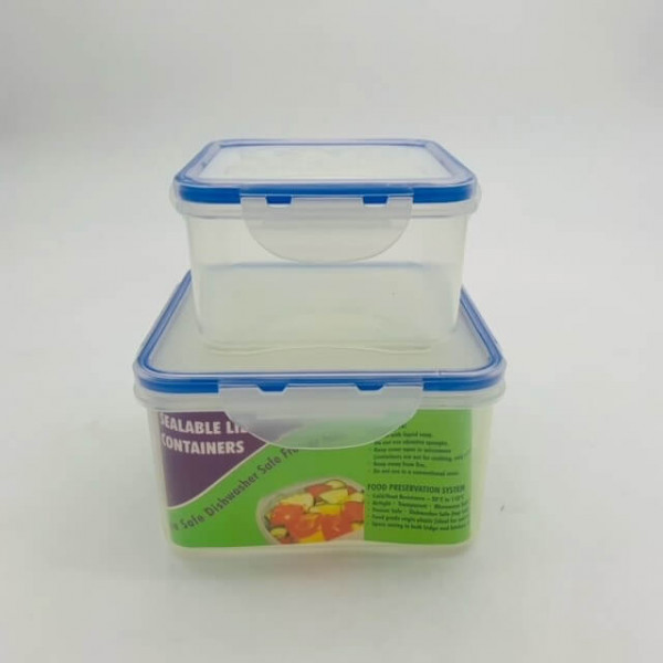 620126 SQ 2PK FOOD CONTAINERS