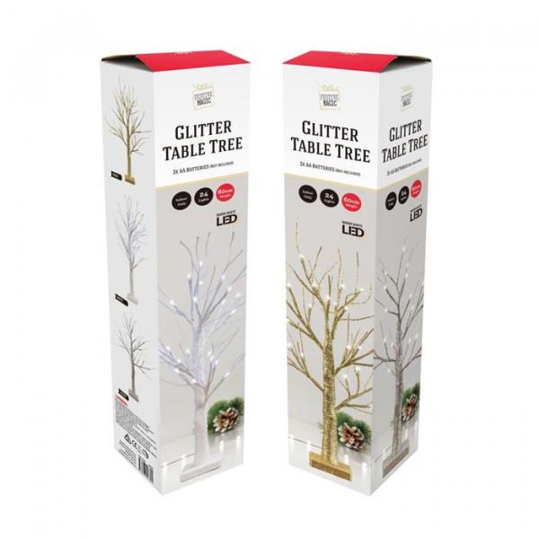 064511 LED GLITTER TABLE TREE